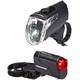 Trelock LS 360 I-GO ECO+LS 720 REEGO Akkubeleuchtung-Set schwarz